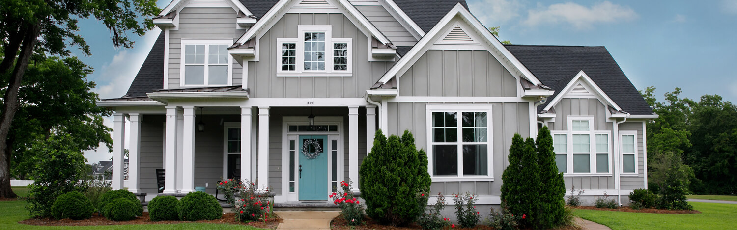 New and Modern Colorful Craftsman Cottage House